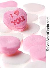 giorno valentine, cuori caramella