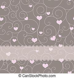 giorno valentine, disegno, matrimonio, o, scheda