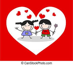 giorno valentines, amore, celebrazione