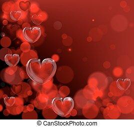giorno valentines, angolo, cornice, fondo