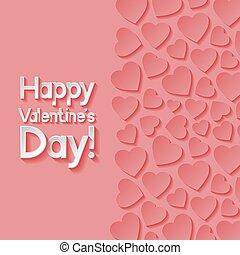 giorno valentines, augurio, card.