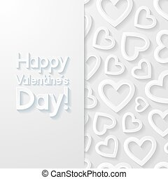 giorno valentines, augurio, card., vettore, illustration.