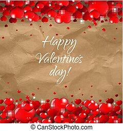 giorno valentines, bordo, cartone, fondo