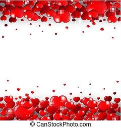 giorno valentines, bordo, isolato, sfondo bianco