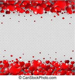 giorno valentines, bordo, isolato, trasparente, fondo