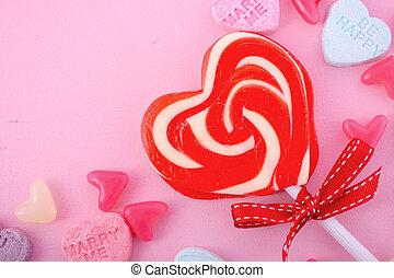 giorno valentines, caramella, felice
