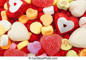 giorno valentines, caramella, fondo