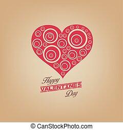 giorno valentines, con, cuore
