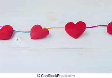 giorno valentines, cuore, fondo