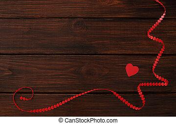 giorno valentines, cuore, nastro