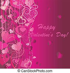 giorno valentines, fondo, augurio