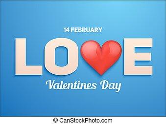 giorno valentines, fondo, con, amore, e, cuore