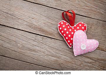 giorno valentines, fondo, con, giocattolo, cuori