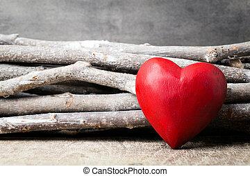 giorno valentines, fondo, con, hearts.