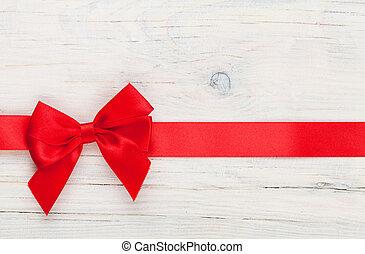 giorno valentines, fondo, con, nastro rosso