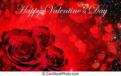 giorno valentines, fondo, con, rose
