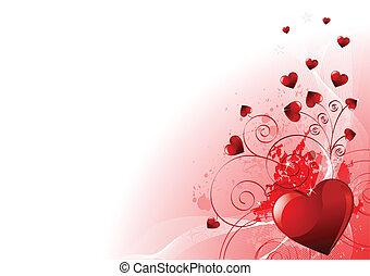 giorno, valentines, fondo