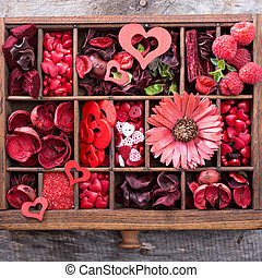 giorno valentines, poco, cose, in, uno, scatola