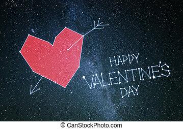 giorno valentines, scheda, felice
