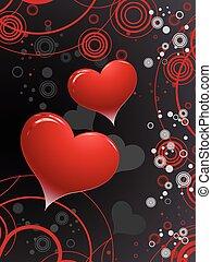 giorno, valentines, sfondo nero