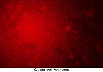 giorno valentines, sfondo rosso