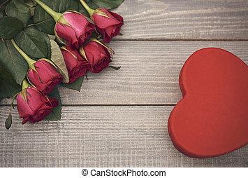giorno valentines, simboli, in, il, angoli