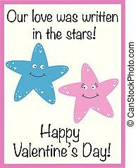 giorno valentines, stelle, felice