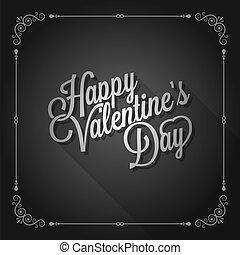 giorno valentines, vendemmia, film, disegno, fondo