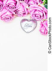 giorno valentines, viola, rose