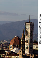 Giotto's Campanile of Florence in Tuscany, Italy