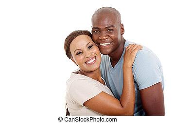 giovane, africano, coppia