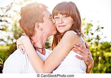 giovane amore, coppia