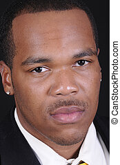 giovane, attraente, africano americano uomo