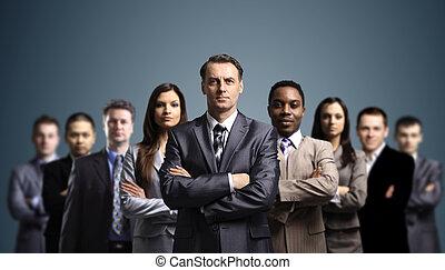 giovane, attraente, persone affari