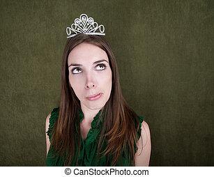 giovane, con, tiara