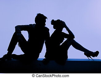 giovane coppia, durante, il, lotta