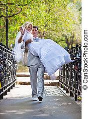 giovane, coppia matrimonio