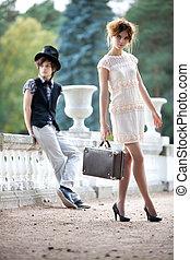 giovane coppia, moda