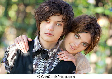 giovane coppia, ritratto