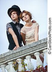 giovane, elegante, coppia
