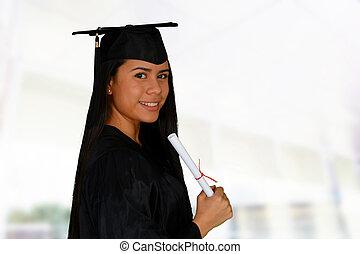 giovane, studente, graduazione