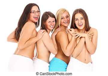 giovani donne, gruppo
