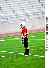 gioventù, giocatore, football