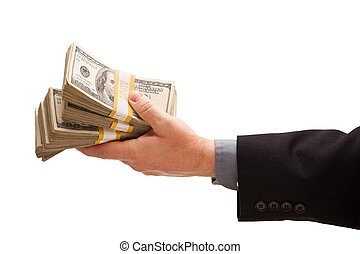 gir överens, dollars, man, hundreds
