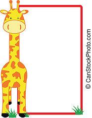 girafe, copyspace
