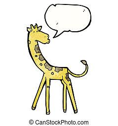 girafe, dessin animé