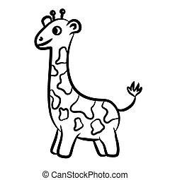 girafe, esquissé