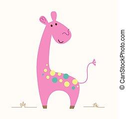 girafe, rose