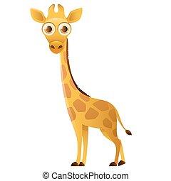Big eyed giraffa stilizzato paesaggio giraffa - Cartone animato giraffe immagini ...