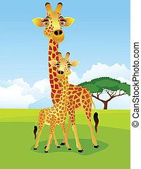 giraffa, cartone animato